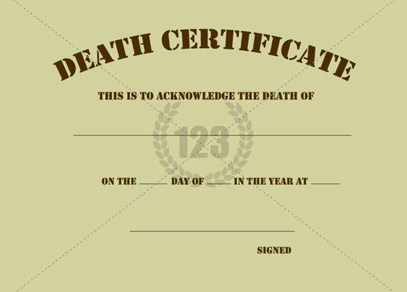 Free Death Certificate Template Inspirational 7 Free Death Certificate Templates formats & Designs