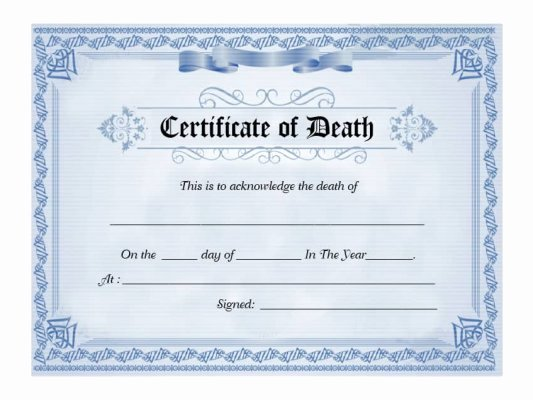 Free Death Certificate Template New 30 Free Certificate Of Appreciation Templates and Letters