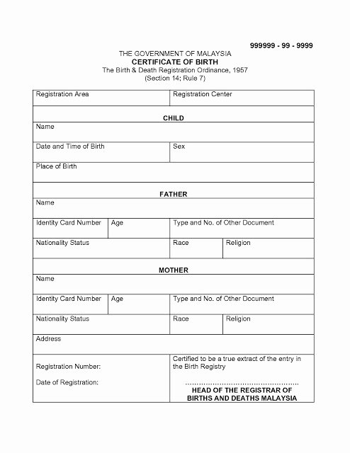 Free Death Certificate Template Unique Migration to Australia Diy Sample Translated Documents