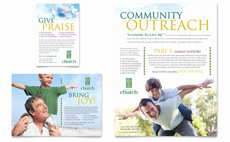 Free Edit Baptism Certificate Template Word Awesome Christian Church Flyer & Ad Template Word & Publisher