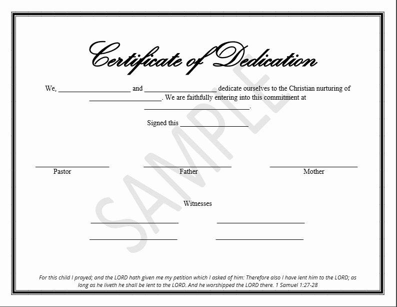 Free Edit Baptism Certificate Template Word Elegant Printable Child Dedication Certificate Templates the