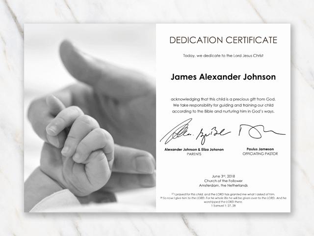 Free Edit Baptism Certificate Template Word Fresh Baby Dedication Certificate Template for Word [free Printable]