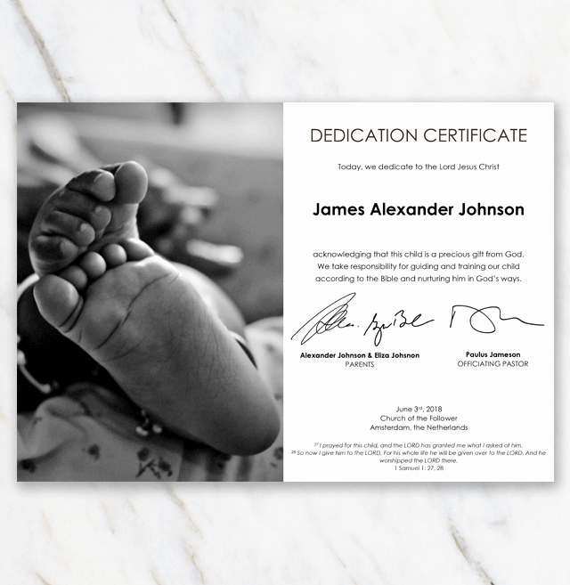 Free Edit Baptism Certificate Template Word Lovely Baby Dedication Certificate with Image Of African American