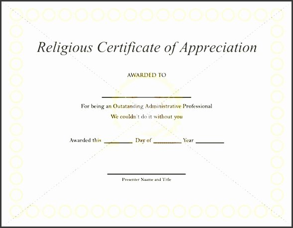 Free Edit Baptism Certificate Template Word New 7 Download Free Certificate Appreciation Template