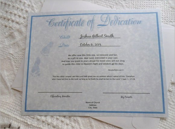 Free Editable Baby Dedication Certificates Beautiful 10 Sample Printable Baby Dedication Certificate Templates