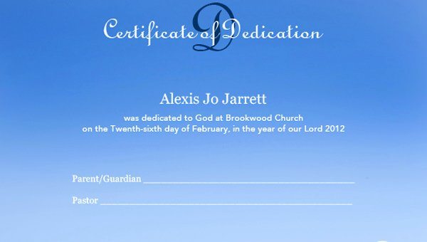 Free Editable Baby Dedication Certificates Fresh Baby Dedication Certificate Template 21 Free Word Pdf