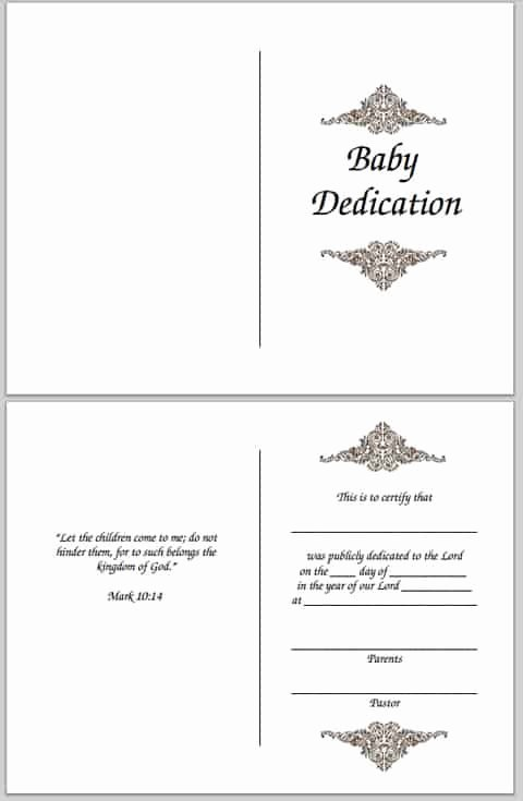 Free Editable Baby Dedication Certificates Lovely Baby Dedication Certificate Free Printable
