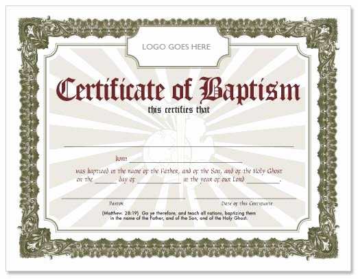 Free Editable Baptism Certificate Template Awesome Pin Certificate Baptism Sample Pinterest Cakepins