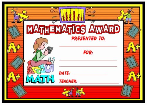 Free Editable Maths Certificates Best Of Math Awards Certificates