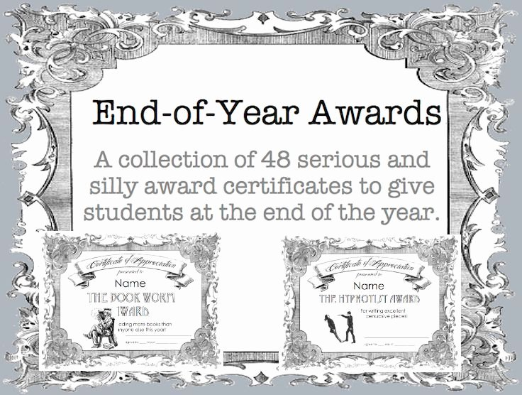 Free Editable Maths Certificates Elegant 48 Fun and Academic End Of Year Award Certificates