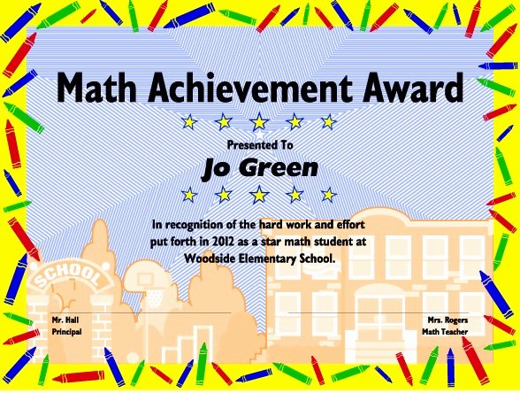 Free Editable Maths Certificates Fresh Excel Math Printable Math Certificates and Awards