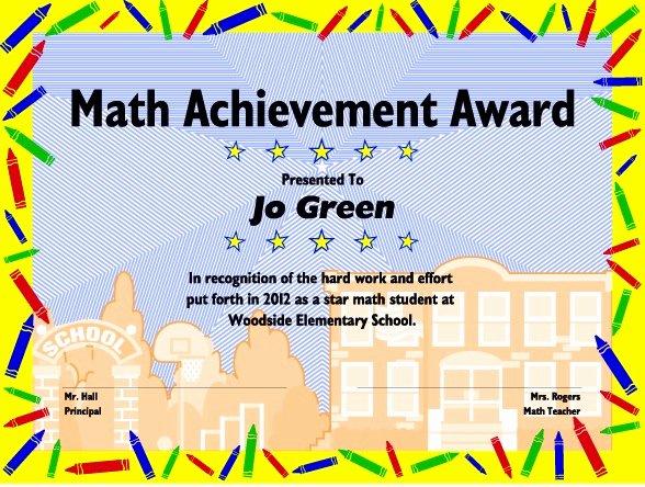 Free Editable Maths Certificates Fresh Excel Math Printable Math Certificates and Awards