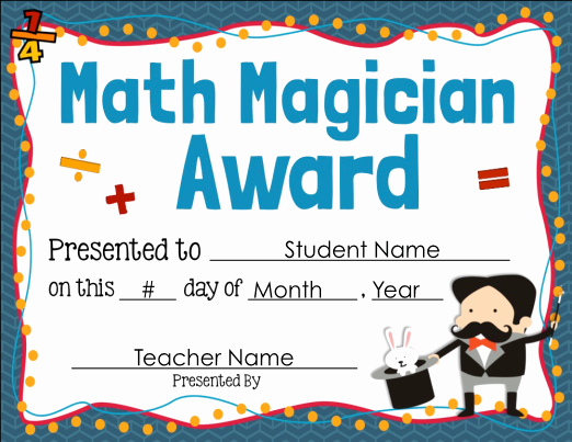 Free Editable Maths Certificates Lovely Math Award Certificate Editable