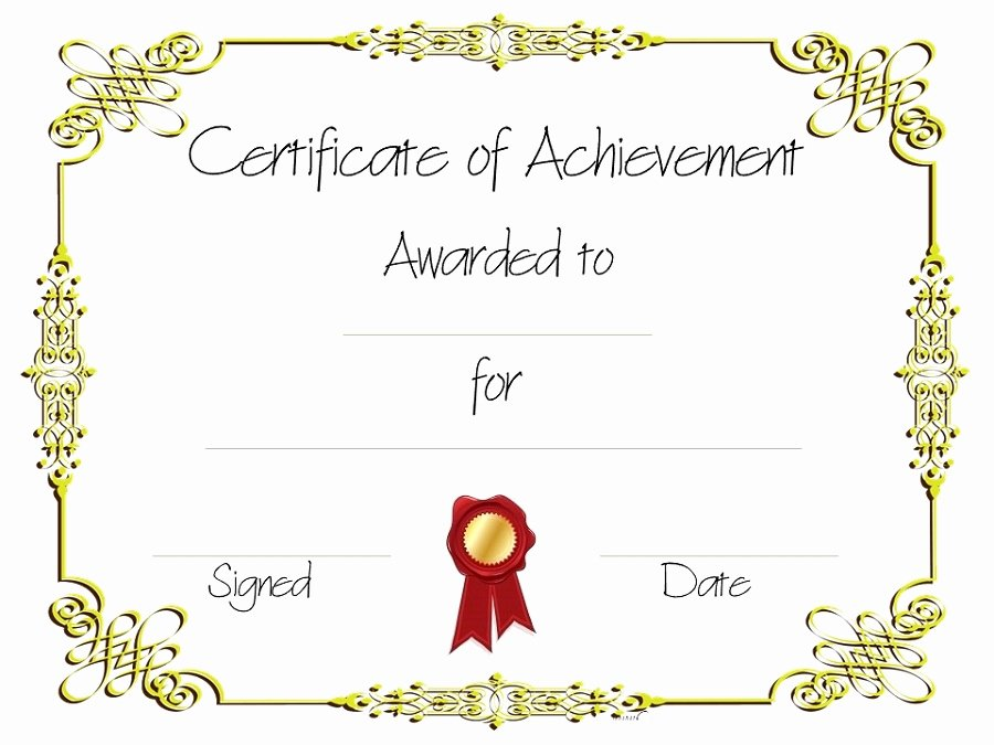 Free Editable Maths Certificates New Certificate Of Achievement Templates