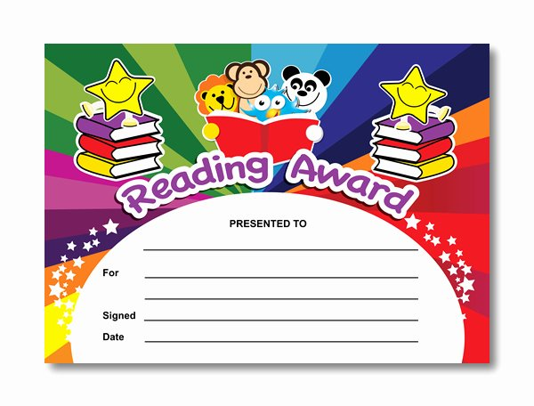 Free Editable Maths Certificates New Reading Award Certificates