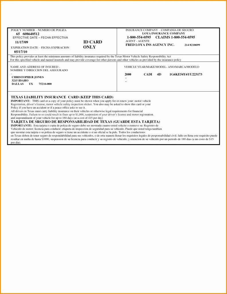 Free Fake Auto Insurance Card Template Beautiful Printable Fake Car Insurance Cards