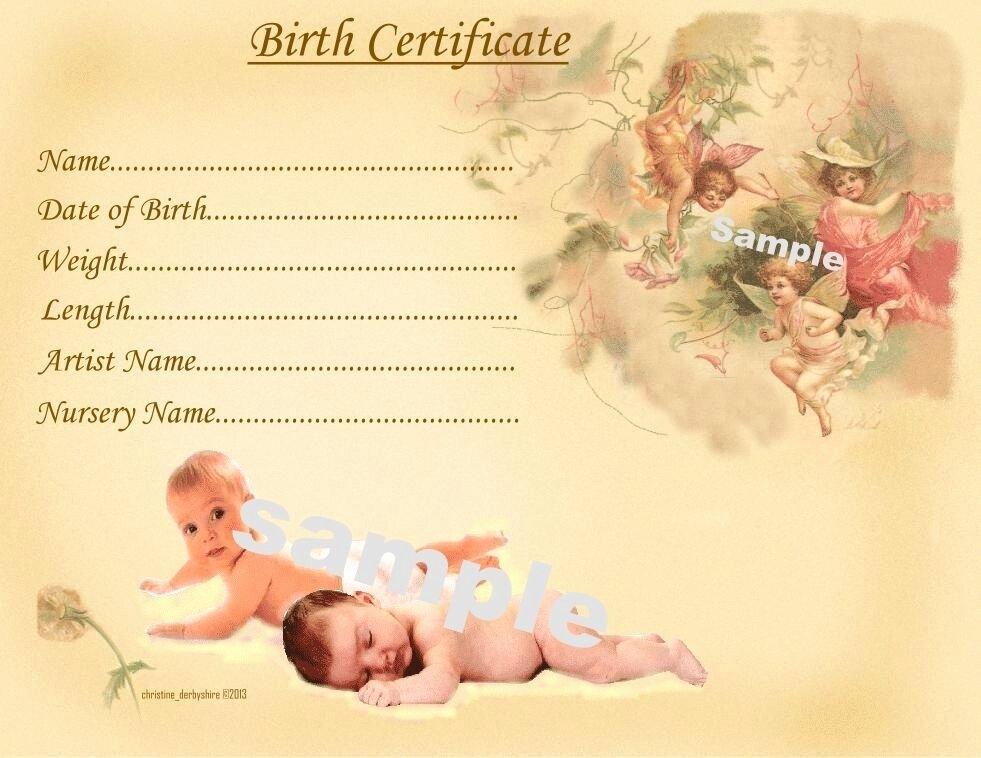 Free Fake Birth Certificate Elegant Cute Baby Birth Certificate Certificates 4 Reborn Fake