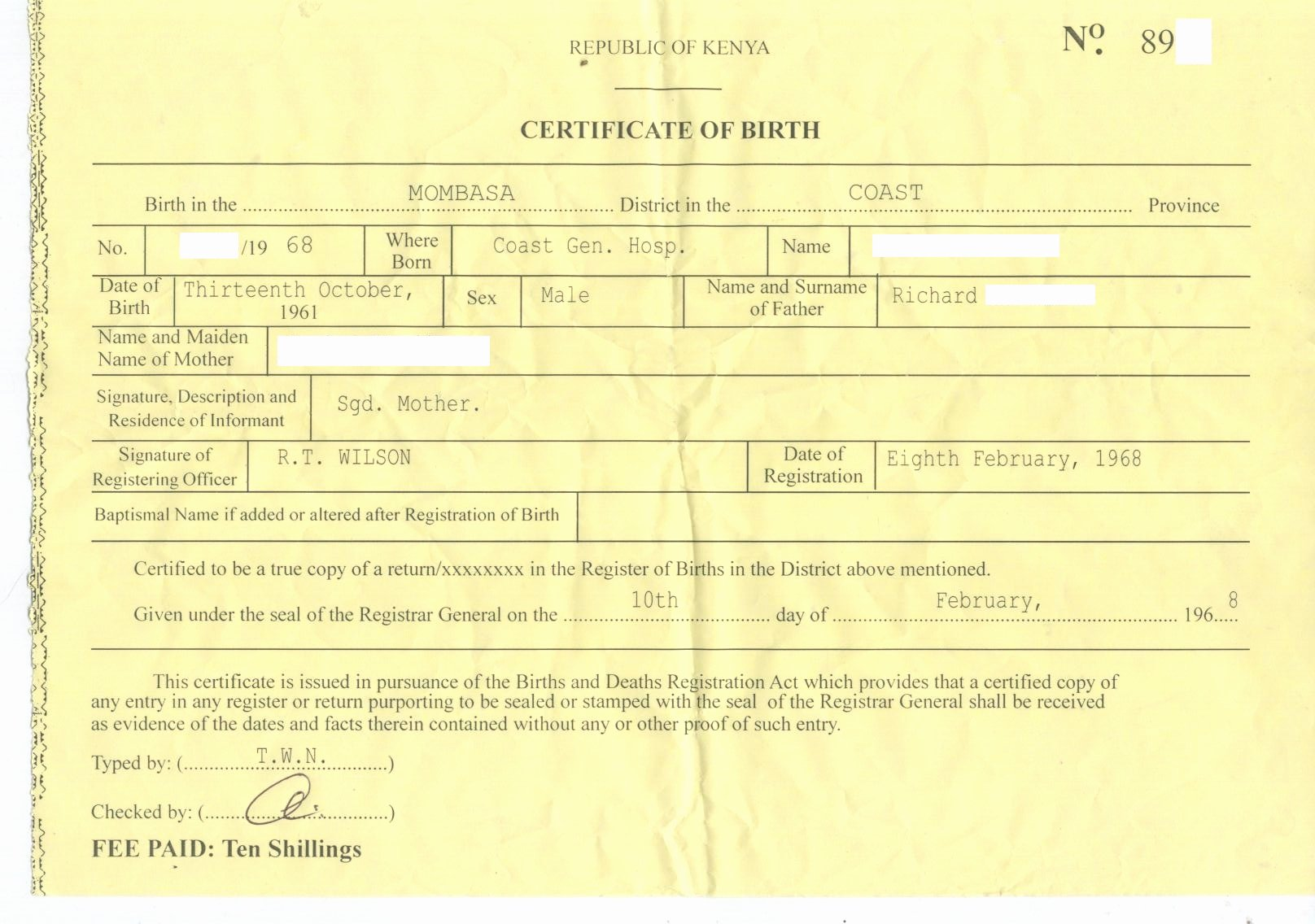 Free Fake Birth Certificate New Dr Conspiracy's First Fake Kenyan Birth Certificate