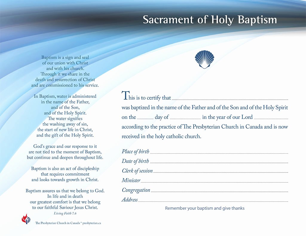 Free Fillable Baptism Certificate Lovely Bulletin Covers