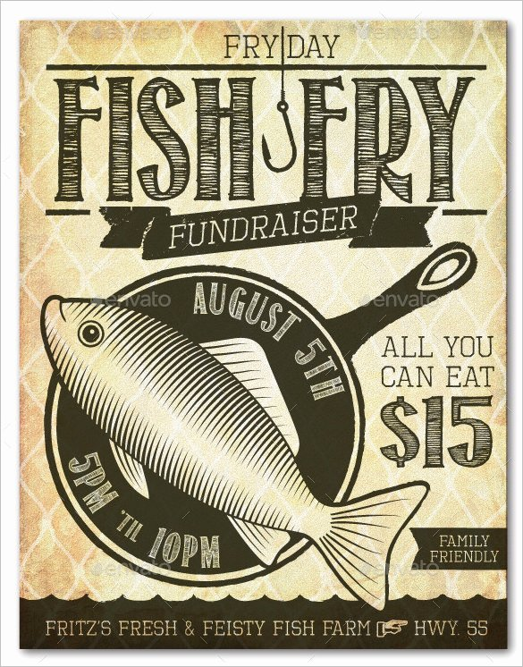 Free Fish Fry Flyer Template Awesome 48 Fundraiser Flyer Templates Psd Eps Ai Word