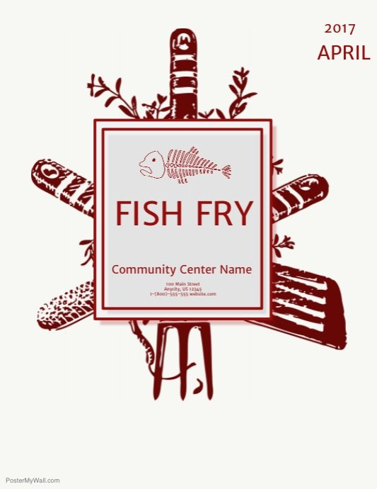 Free Fish Fry Flyer Template Awesome Fish Fry Template