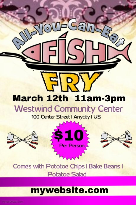 Free Fish Fry Flyer Template Awesome Poster My Walls Blogger Easter Templates