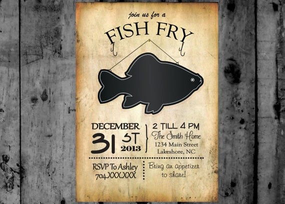 Free Fish Fry Flyer Template Beautiful Fish Fry Invitation Printable Party Invitation
