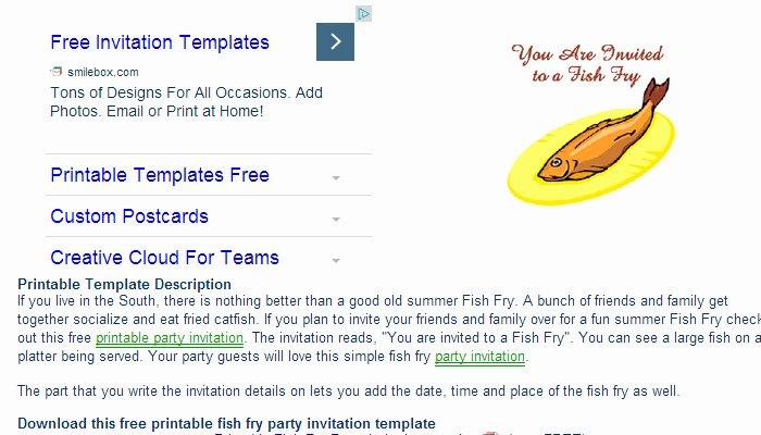 Free Fish Fry Flyer Template Elegant 5 Fish Fry Flyer Templates