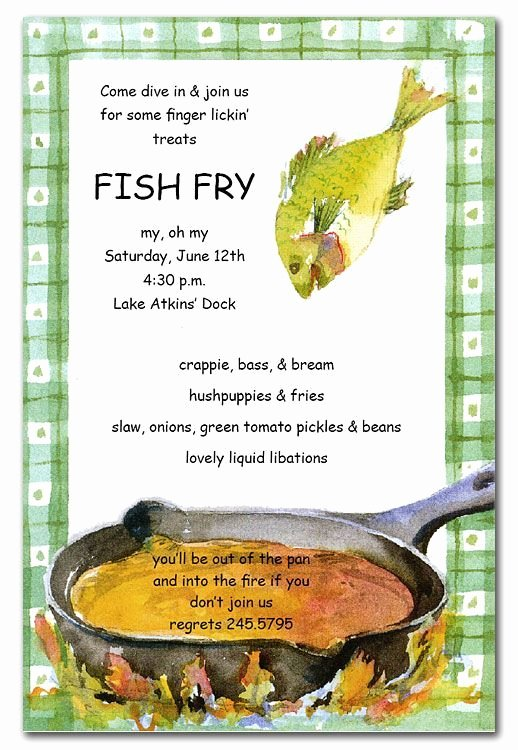 Free Fish Fry Flyer Template Elegant Country Style Fish Fry Invitations Have A Fish Frying Pan