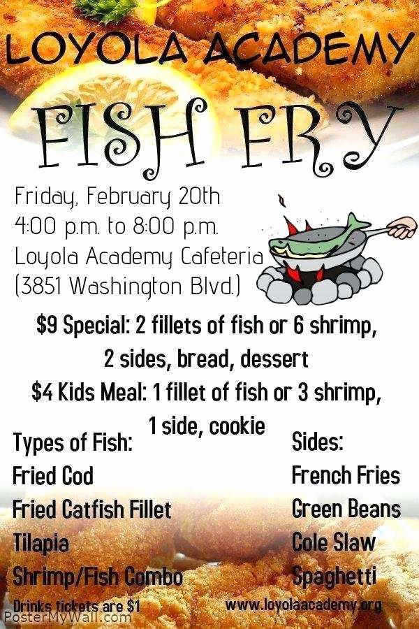 Free Fish Fry Flyer Template Fresh Fish Fry Flyer Template Free Cards Design Templates