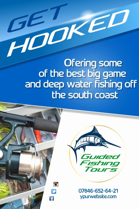 Free Fish Fry Flyer Template New Copy Of Fishing tours Flyer