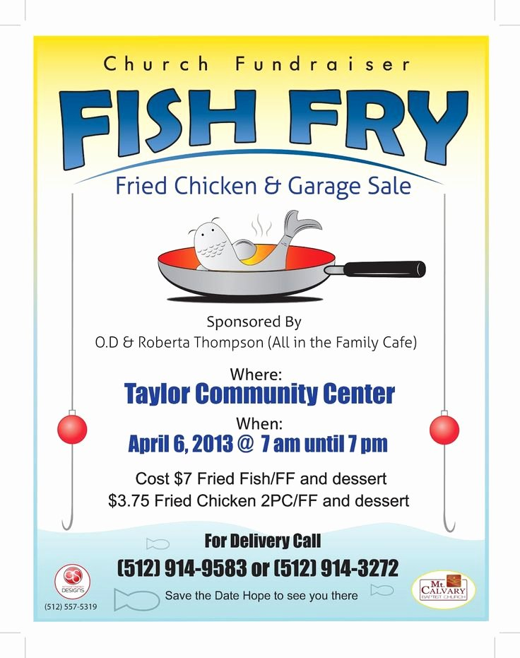 Free Fish Fry Flyer Template New Fish Fry Flyer Template to Add Anthony Simien