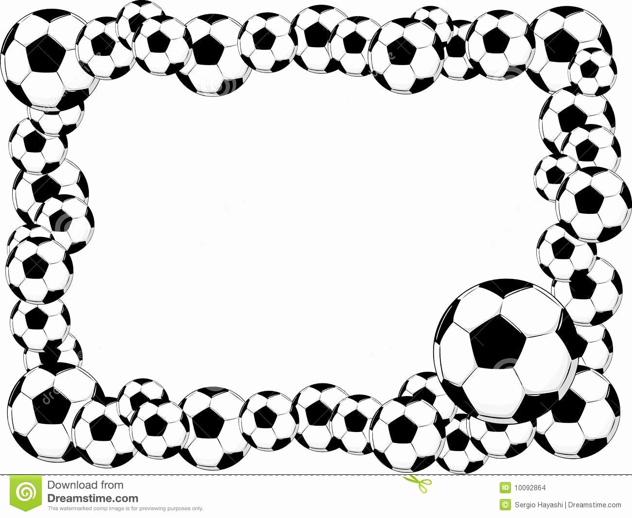 Free Football Border Template Awesome Sports Balls Clipart Borders
