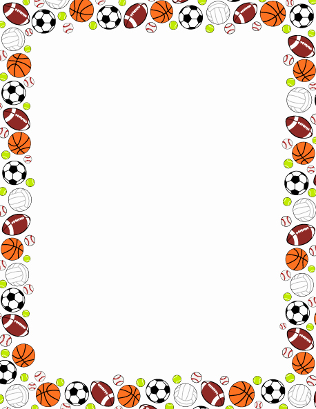 Free Football Border Template Best Of Pin by Muse Printables On Page Borders and Border Clip Art