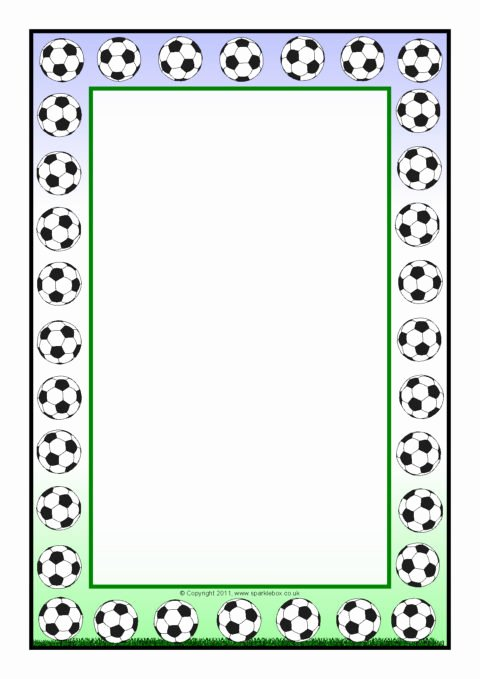 Free Football Border Template Fresh Football A4 Page Borders Sb5551 Sparklebox