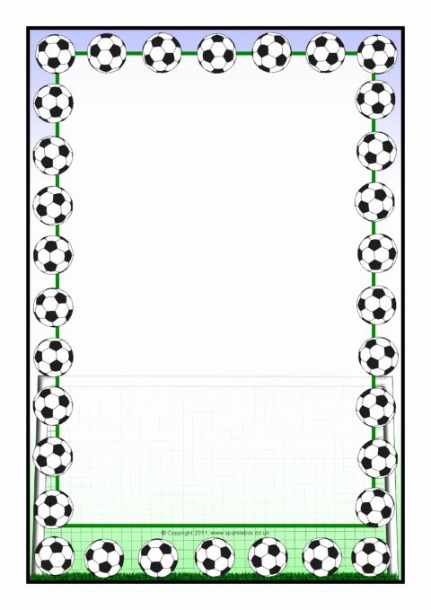 Free Football Border Template New Football A4 Page Borders Sb5551 Sparklebox