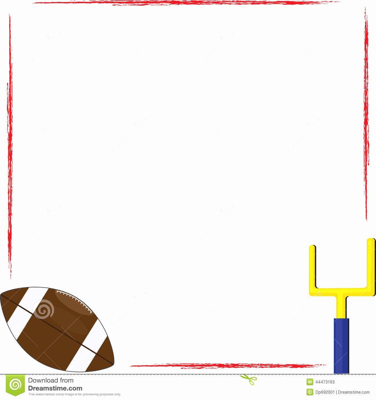 Free Football Border Template New Football Border Clipart & Free Clip Art