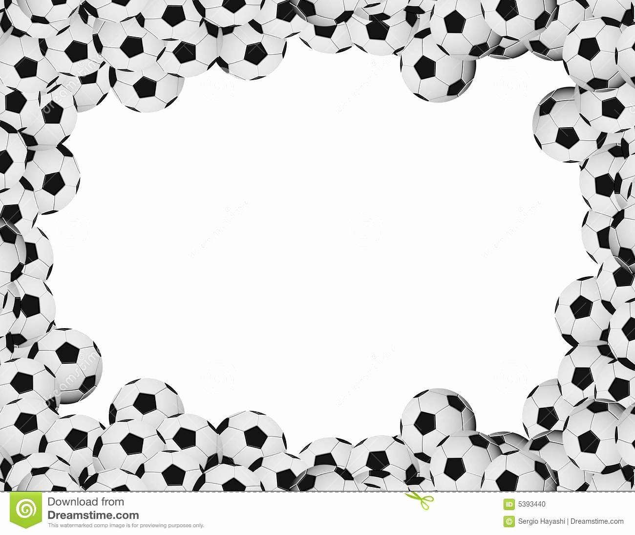 Free Football Border Template Unique soccer Frame Stock Illustration Illustration Of Sphere