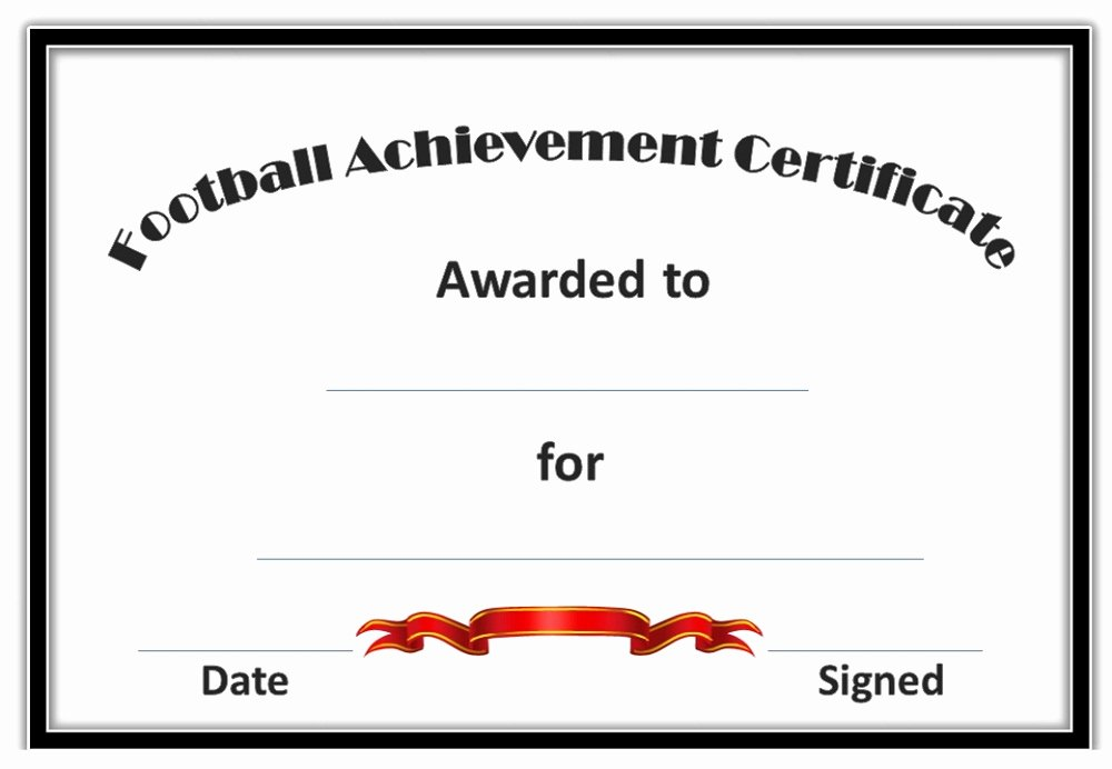 Free Football Certificate Template Awesome soccer Award Certificates