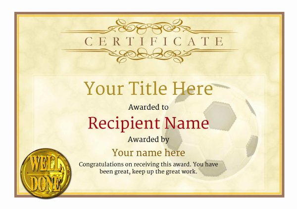Free Football Certificate Template Best Of Free Uk Football Certificate Templates Add Printable