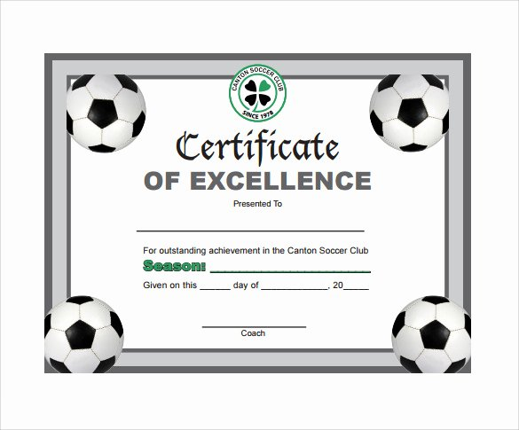 Free Football Certificate Template Elegant soccer Certificate Template 7 Download Free Documents