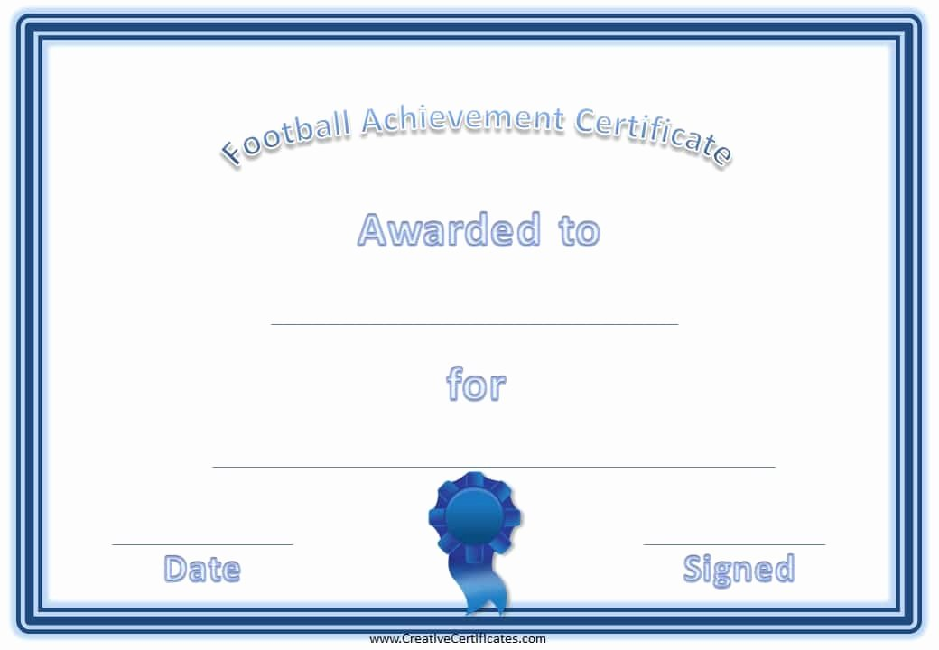 Free Football Certificate Template Inspirational 28 Of Football Certificate Achievement Template