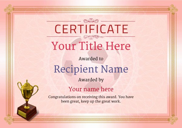 Free Football Certificate Templates Elegant Free Uk Football Certificate Templates Add Printable