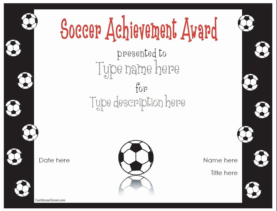 Free Football Certificate Templates Inspirational Free Printable Award Certificate Template