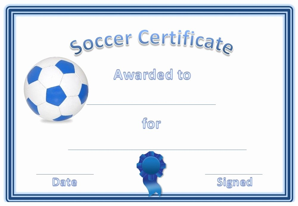 Free Football Certificates Templates Lovely soccer Award Certificates