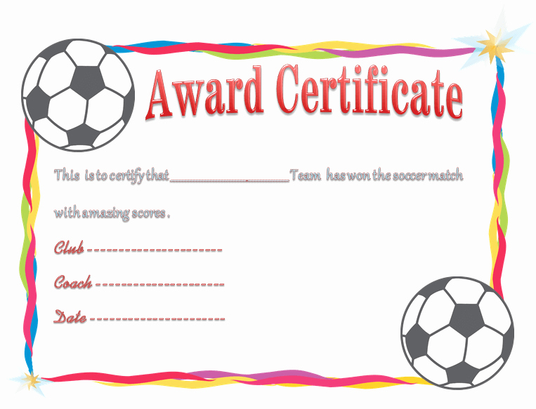 Free Football Certificates Templates New Award Certificate Template Celebrate Achievements