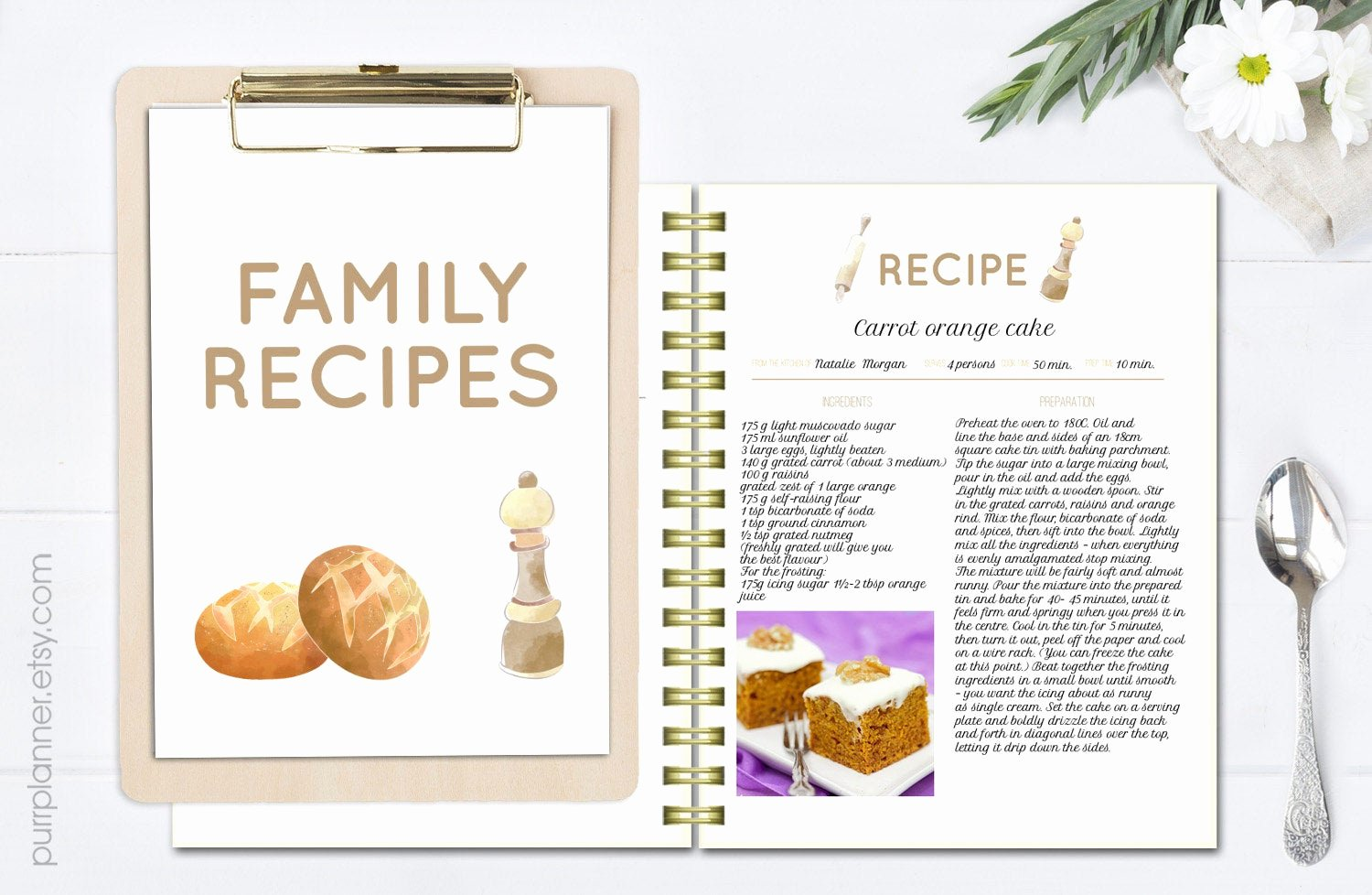 Free Full Page Recipe Templates for Word Awesome Printable Editable Recipe Pages Recipe Book Template Recipe