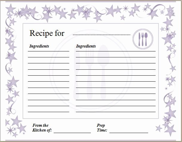 Free Full Page Recipe Templates for Word Best Of Pin by Alizbath Adam On Daily Microsoft Templates