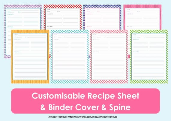 Free Full Page Recipe Templates for Word Unique Printable Recipe Sheet Template Recipe Card Recipe Binder