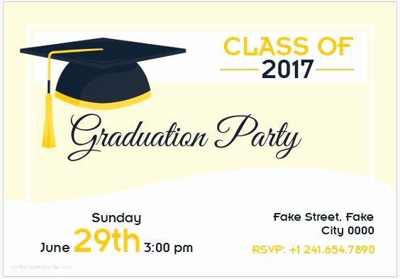 Free Graduation Templates for Word Beautiful 10 Best Graduation Party Invitation Card Templates Ms Word